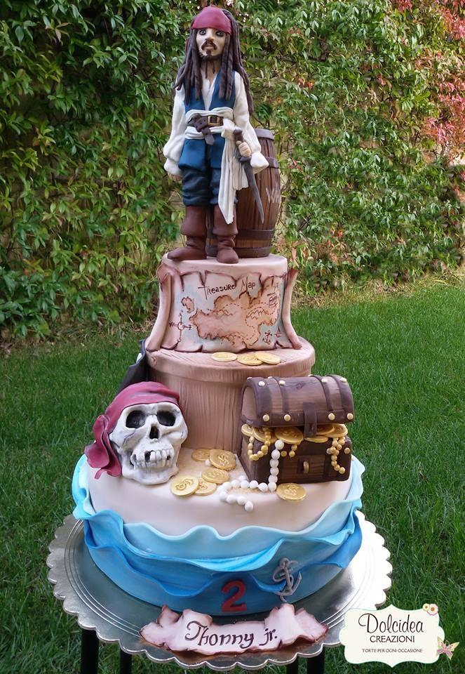 Torta Pirata Dei Caraibi Jack Sparrow Pirates Of The