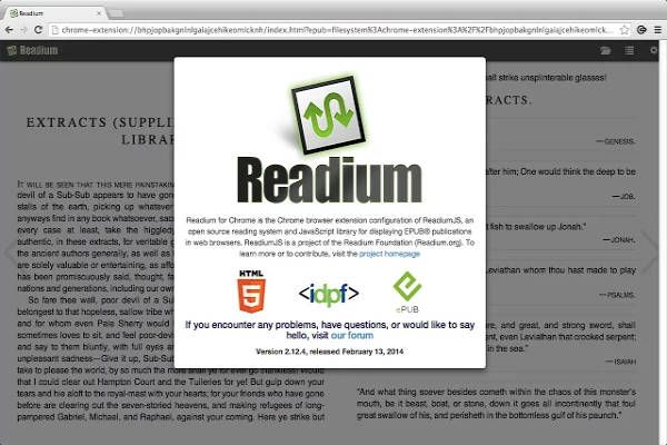 Scarica Readium EPUB reader per Google Chrome, il lettore di EPUB3 supportato da EPUB ZONE e IDPF. Un ebook reader semplice e avanzato.