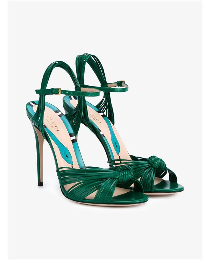 GUCCI Leather Knot Sandals. #gucci #shoes #sandals
