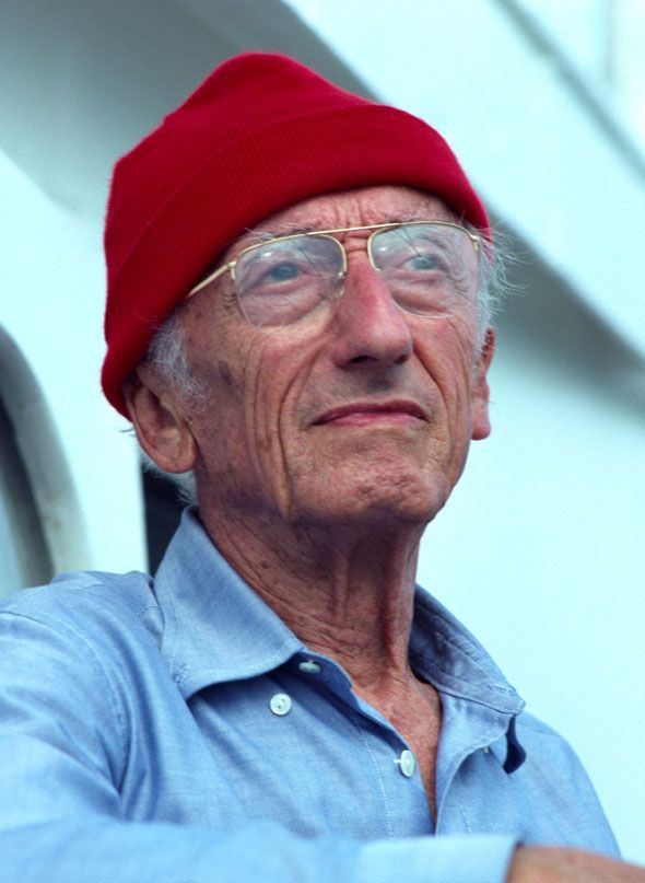 "Jacques Cousteau... commonly known in English as Jacques Cousteau; 11 June 1910 – 25 June 1997)  was a French naval officer, explorer, ecologist, filmmaker, innovator, scientist, photographer, author and researcher who studied the sea and all forms of life in water. He co-developed the aqua-lung, pioneered marine conservation and was a member of the Académie française. He was also known as ""le Commandant Cousteau"" or ""Captain Cousteau"""
