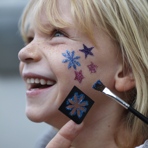 Using DIY stencils will make face painting much quicker at your PTA PTO fundraiser and therefore make you more money!