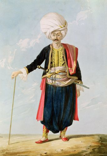 A member of the Janissary Corps,  by William Page.  Ottoman, 1823.