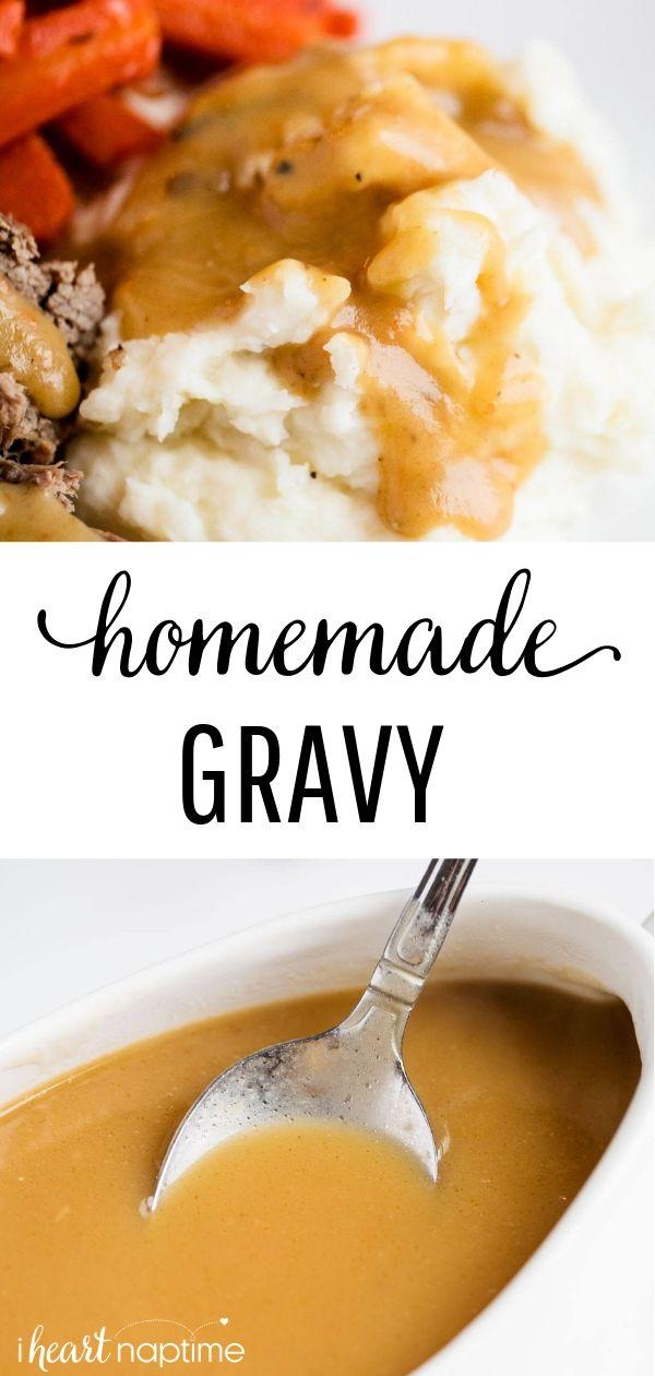 Easy Homemade Gravy 3 Ingredients Homemade Gravy Recipe Easy Homemade Gravy Homemade Chicken Gravy