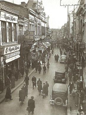 Lipscani Street, Bucharest, Romania (1929)