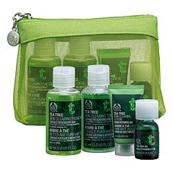 Such a great set of travel-size bottles to keep your face happy (and not have to check any luggage) #teatreeoil