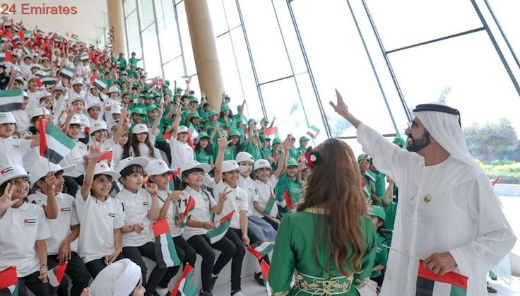 Sheikh Mohammed celebrates Flag Day at Union House