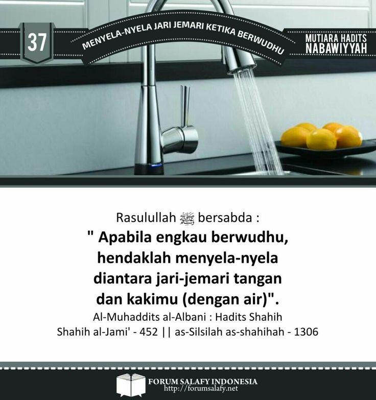 Galeri Poster Dakwah Ahlussunnah: Menyela-nyela Jari jemari ketika berwudhu