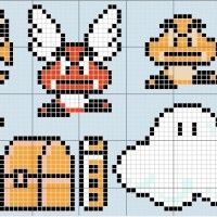 Super Mario Cross Stitch Patterns I am going to get this done when I steal mum's cross stitching supplies :P