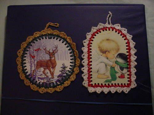 CROCHET CHRISTMAS CARD ORNAMENT Tutorial