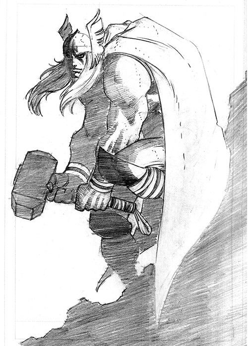 Thor sketch by John Romita Jr.