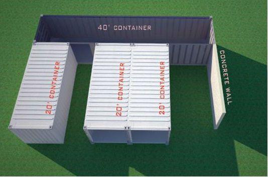 Дома с гаражом из контейнеров проект 16