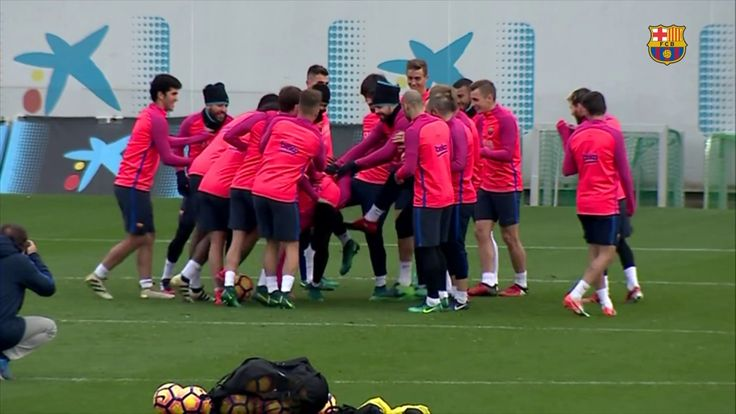 FC Barcelona training session: Final workout before San Sebastian trip