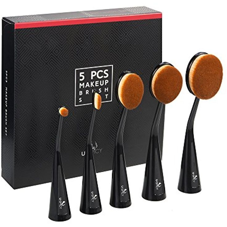 Oval Makeup Brush Set, USpicy Standable Professional Makeup Brushes 5pcs (Refined Gift Box, Cruelty Free, Soft Synthetic Fiber) >>> Check out the image by visiting the link. (This is an affiliate link and I receive a commission for the sales)