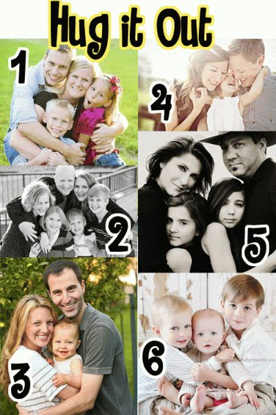 Love these poses for family pictures!