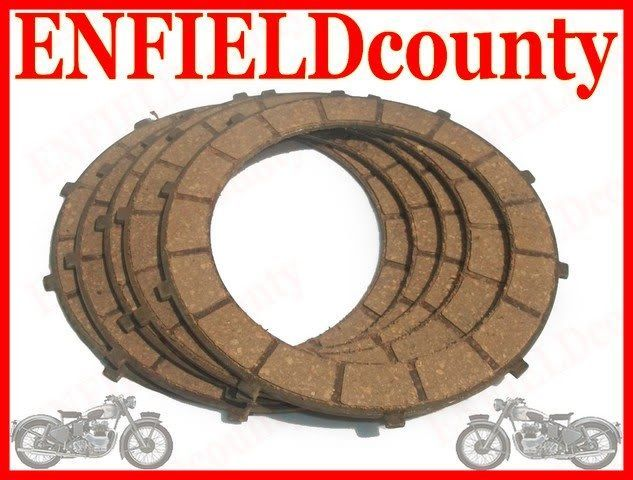 NEW ROYAL ENFIELD 5 SPEED CLUTCH PLATE FRICTION KIT