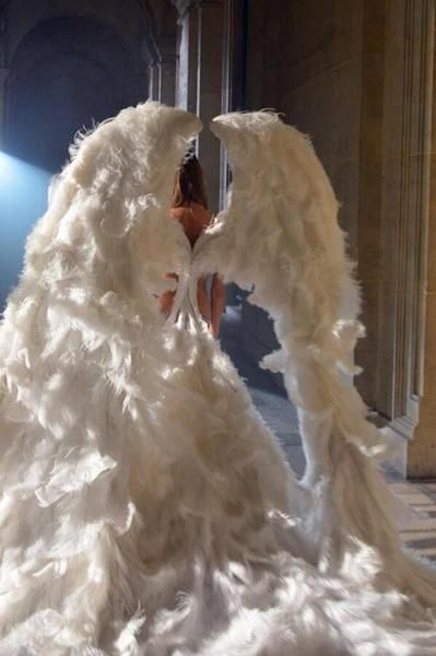 "notordinaryfashion:  ""Angel"" Wings - Love this shot from the fashion show!"