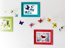 2 guirlandes de papillon pour mur ou rideaux