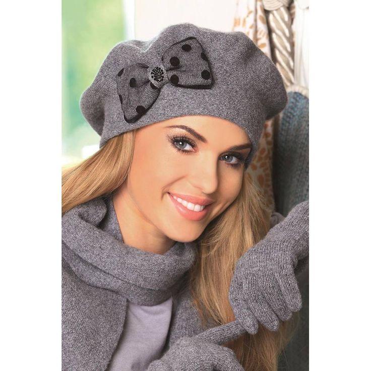 Wełniany beret damski Stella - Czapki - Galanteria i dodatki