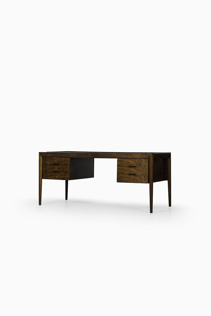 Pair of vintage danish rosewood and brushed steel side cabinets ref - Rare Desk In Rosewood Designed By Severin Hansen And Produced By Haslev M Belsnedkeri In Denmark