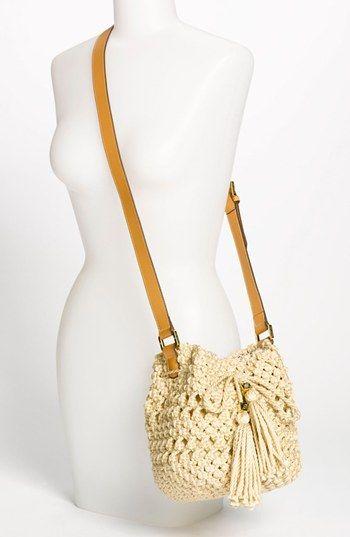 Tory Burch 'Dawson - Small' Crocheted Bucket Bag #crochetbag