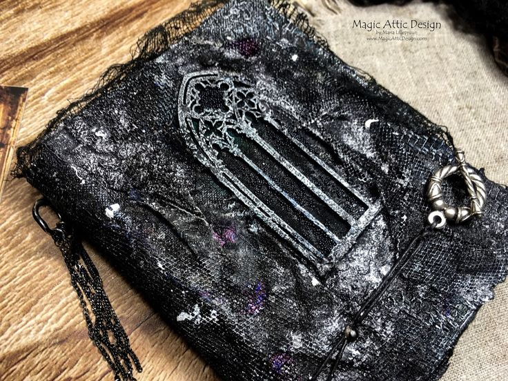 Handmade gothic mixed media notebook by Maria Lillepruun