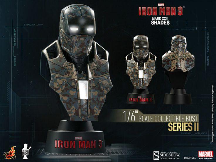 Pré-Encomenda:  Iron Man 3 Bust 1/6 Series 2 Iron Man Mark XXIII Shades 11 cm  Para mais informações clica no seguinte link: http://buff.ly/1iMgWQx  #ToyArt #HotToys #Marvel #IronMan
