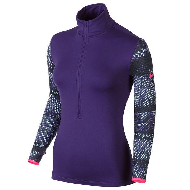 Nike shirt lange mouw hyperwarm paars dames