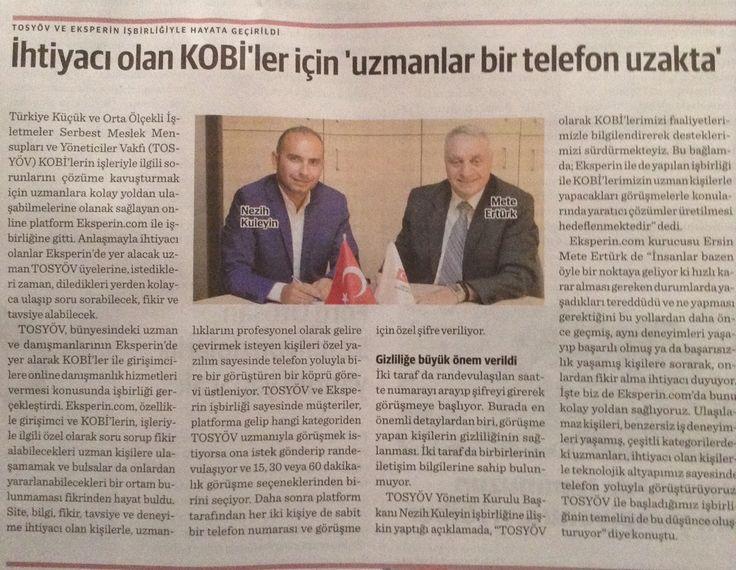 Eksperin.com ve Tosyöv işbirliğine ait Dünya Gazetesinde yer alan haberimiz. #girişimcilik #kobi #startup #teknoloji https://eksperin.com/EksperGoruntule/Ersin_Mete.Erturk_GBmvToKX_86C9p0hO_1dr3l3Ew_SVqQl