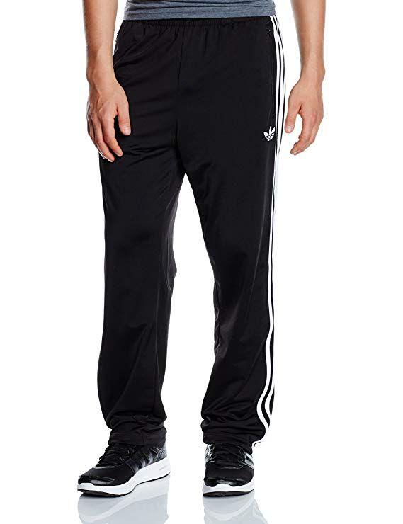6a1234cbcac adidas Originals Mens Firebird Pant 3 Stripe Trefoil Logo Track Pant Black  New S23232