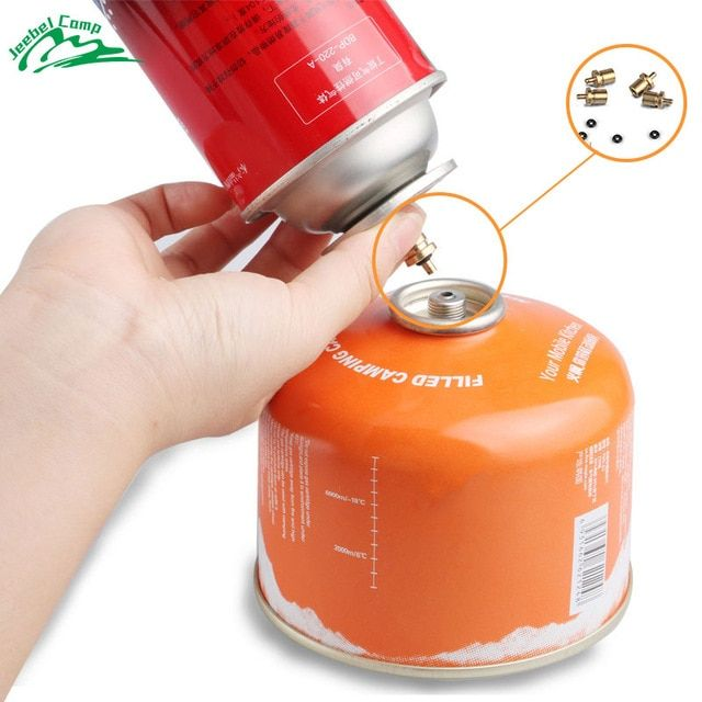 Gas Refill Adapter for Outdoor Camping Hiking Stove Inflate Butane Canister