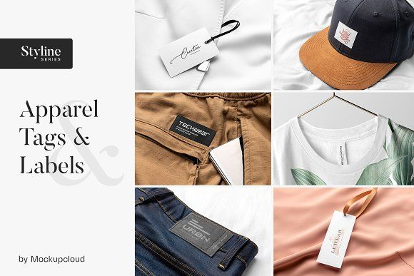 Apparel Tags And Labels Mockups In 2020 Clothing Mockup Apparel Professional Business Cards Logo
