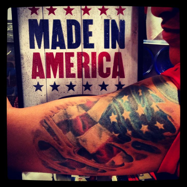 Us Navy Tattoos On Pinterest: American Flag Skin Rip Tattoo. US Navy Sailor.
