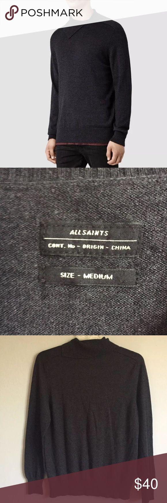 All Saints Medium sweater shirt long sleeve This listing is for a preowned top in excellent condition. Thanks for looking! All Saints Shirts Sweatshirts & Hoodies