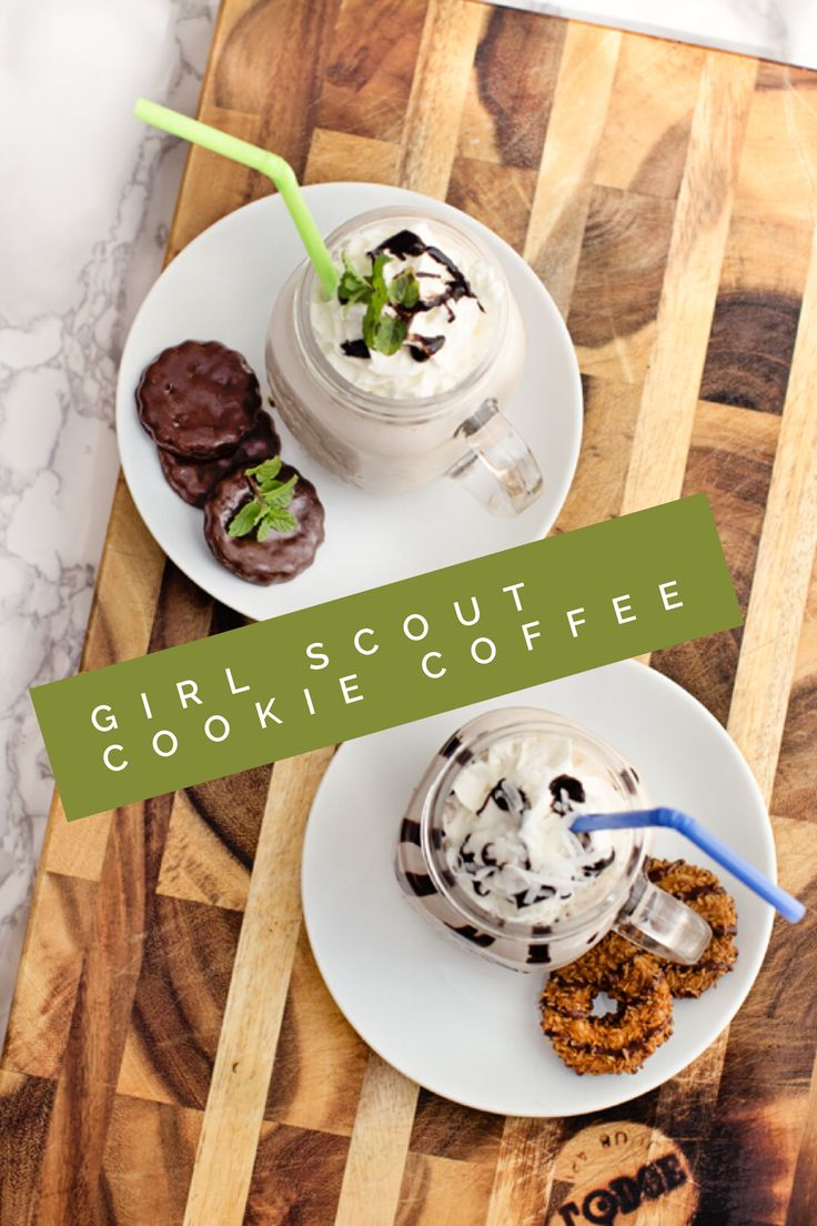 Girl Scout Cookie Coffee - Thin Mints and Samoa Inspired