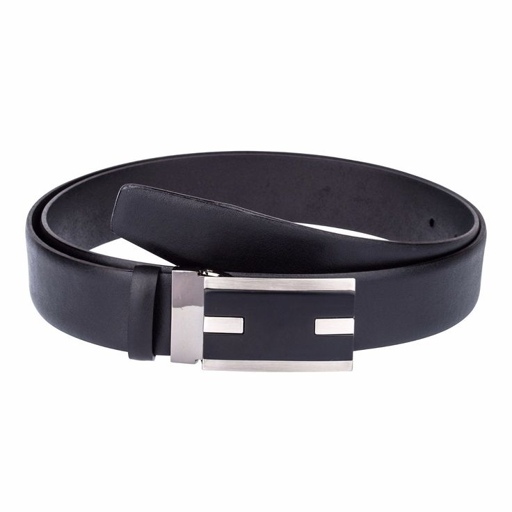 """Mens belts online CAPO PELLE Classic buckle Suit belt trousers Black fashion 34""""   eBay"""