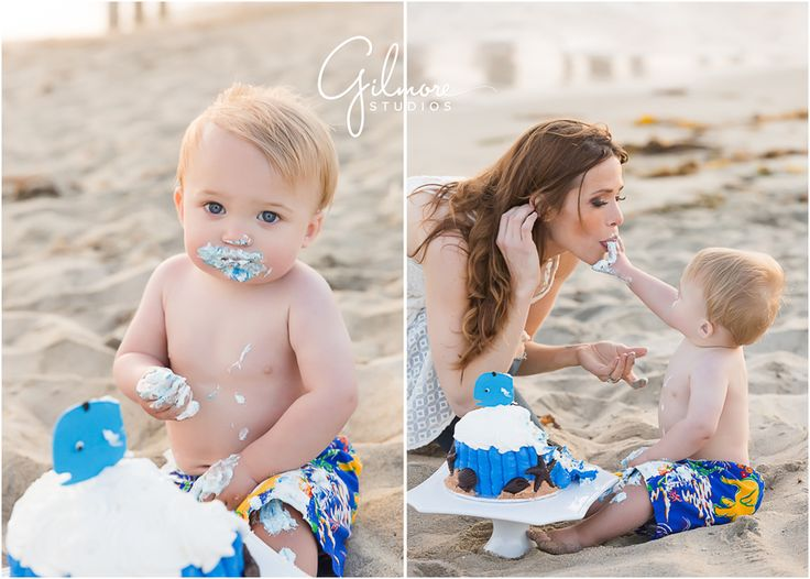 Fosters 1st birthday cake smash portrait session huntington beach photographer hb huntington