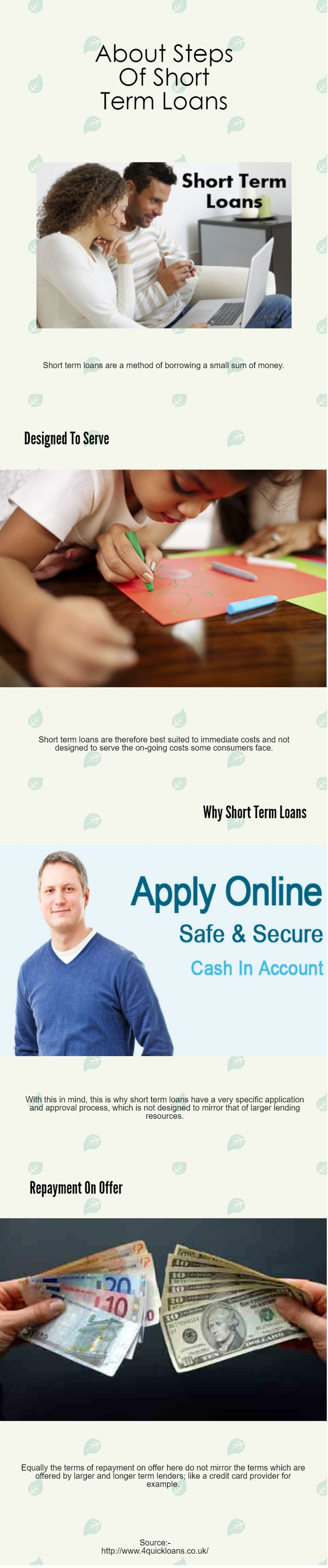 The different application steps of short term loans 4quickloans is not a direct lender, we are a free to use loan matching service. Loan terms, conditions and policies vary by lender and applicant qualifications. http://quickloans78.livejournal.com/4097.html #instant_payday_loan #quick_payday_loans #quick_loans #installment_loans_direct_landers #installment_loans_no_credit_check #installment_loans_for_bad_credit #payday_loans_online_no_credit_check #short_term_loans_bad_credit…