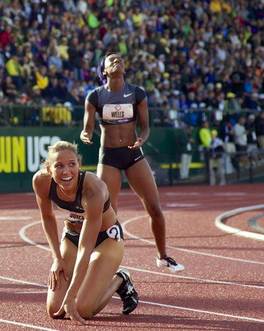 Lolo Jones and Kellie Wells will compete for a medal in London.