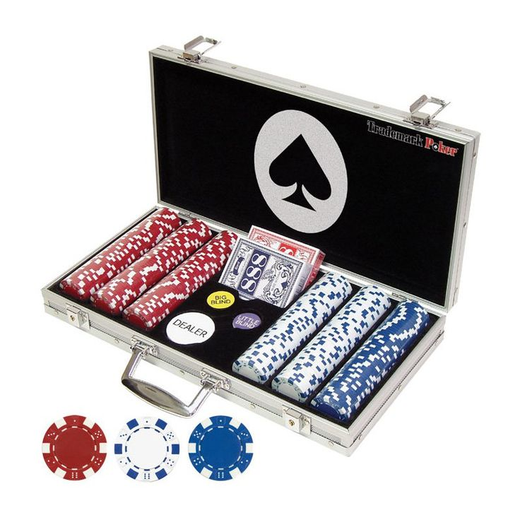 Trademark Poker 11.5g Dice Style Poker Set - 300 Chips - 10-1090-300SQL