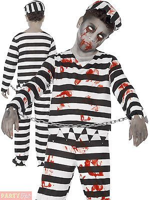 Childrens #zombie #convict prisoner costume boys halloween fancy #dress kids outf,  View more on the LINK: http://www.zeppy.io/product/gb/2/182229898509/