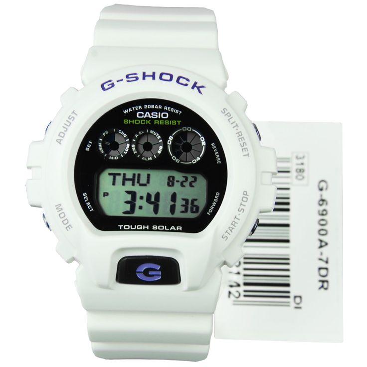 Casio G-Shock Tough Solar Mens World Time Watch G-6900A-7 G6900A