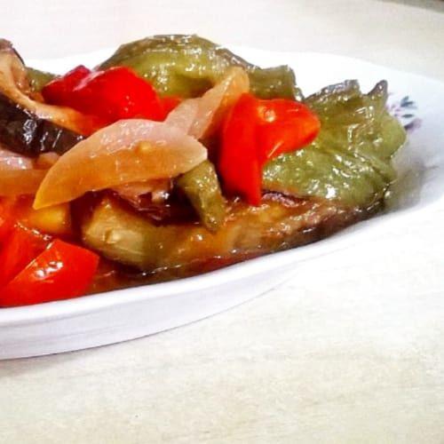 Foto Ricetta Caponata con peperoni friggitelli e melanzane