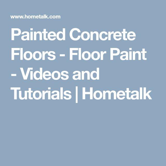 Painted Concrete Floors - Floor Paint - Videos and Tutorials | Hometalk