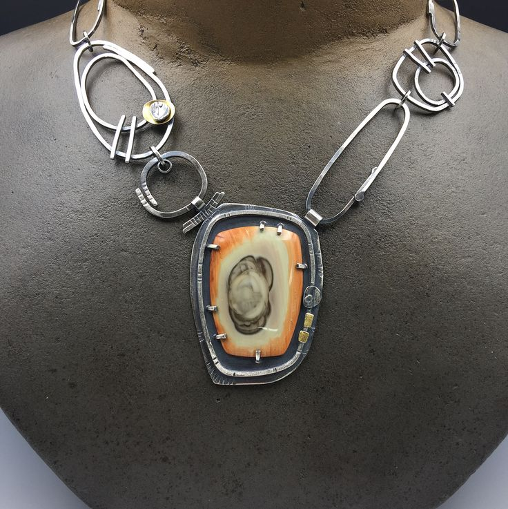Royal Imperial Jasper necklace available now at www.elainerader.com #garywilsonstones #elainerader #personaladornment #handmadejewelry #statementnecklace
