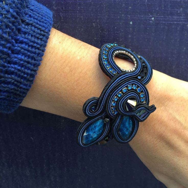 Brighten up your blue Monday with our day to evening Blue Glam bracelet...  #DoriCsengeri #bluemonday #blue #daytoevening #fashion #accessories