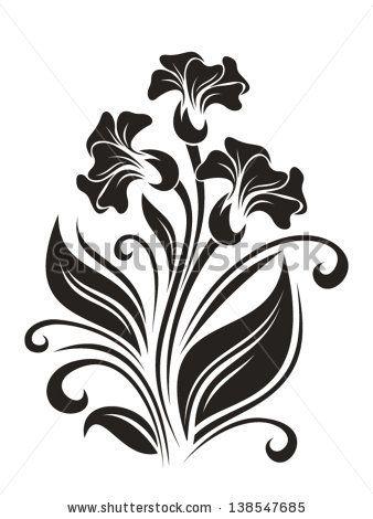 Flowers ornament. Vector illustration. by Naddya, via ShutterStock