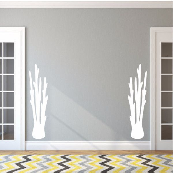 Tall Coral Set of 2 Vinyl Wall Decals 22569 #coral #beach #decor #decals #decal #vinyl #wall #coastal #style