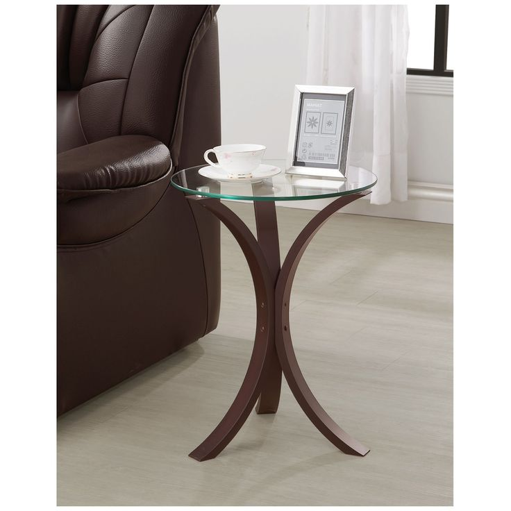 Coaster Furniture Cappuccino Glass Top End Table - 902867