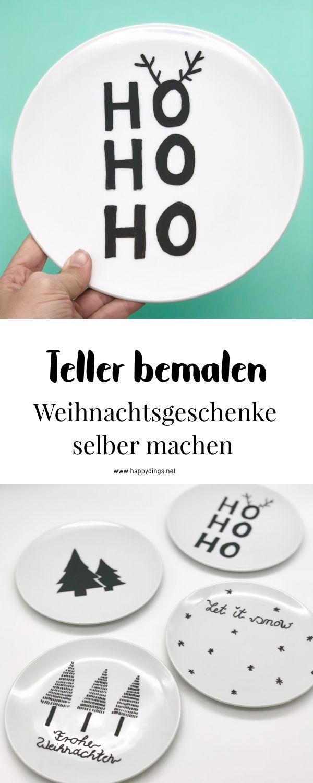 Weihnachtsgeschenke selber machen – Porzellan bemalen – DIY Gruppenboard sammydemmy.de