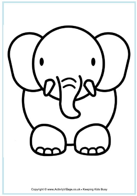 25 best ideas about Elephant outline